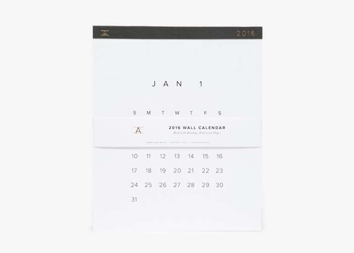 Appointed Wall Calendar | Remodelista