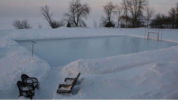 Backyard Ice Hockey Rink Iron Sleek Good Ideas