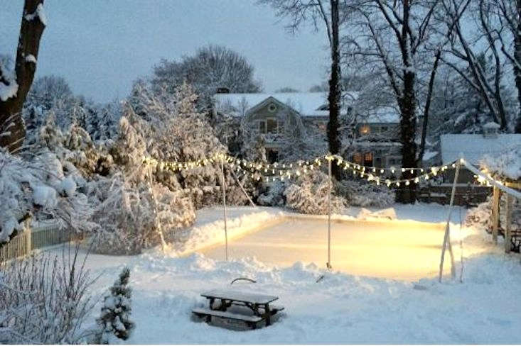 Backyard Rink Lighting : Above Photograph via Nice Rink , which sells Rink Liners , Expansion