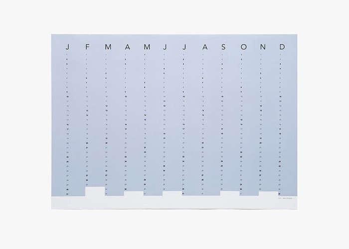 Columns Calendar in Blue | Remodelista
