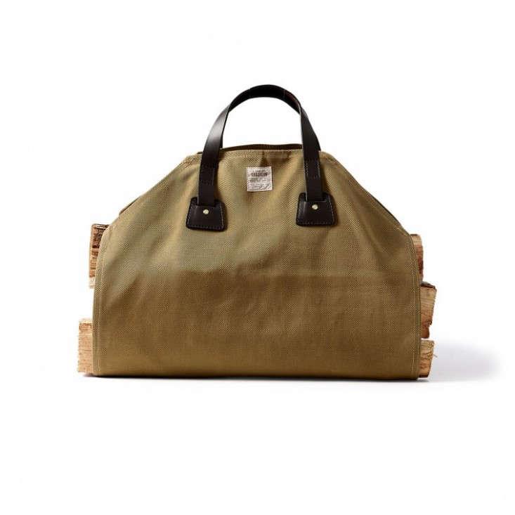 filson log carrier canvas leather ; Gardenista