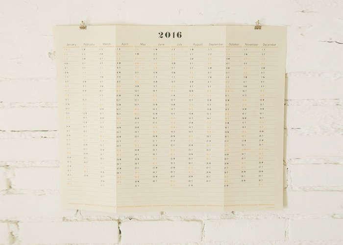 Postalco Wall Calendar | Remodelista