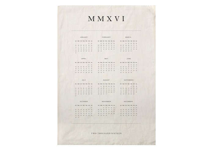 Tea Towel Calendar | Remodelista