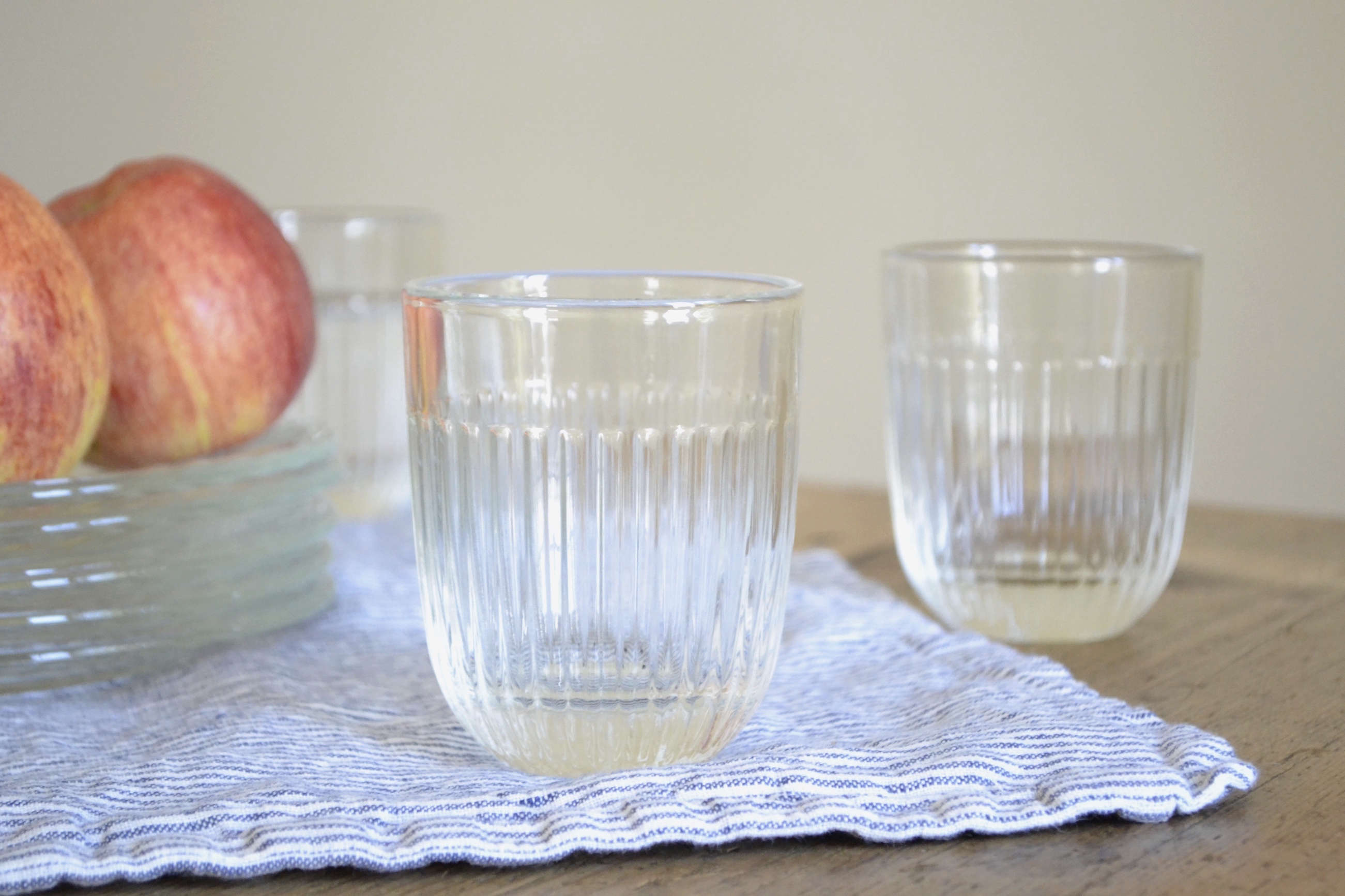 Le-Roychere-French-ribbed-glasses from Le-Reperes-des-Belettes   Remodelista