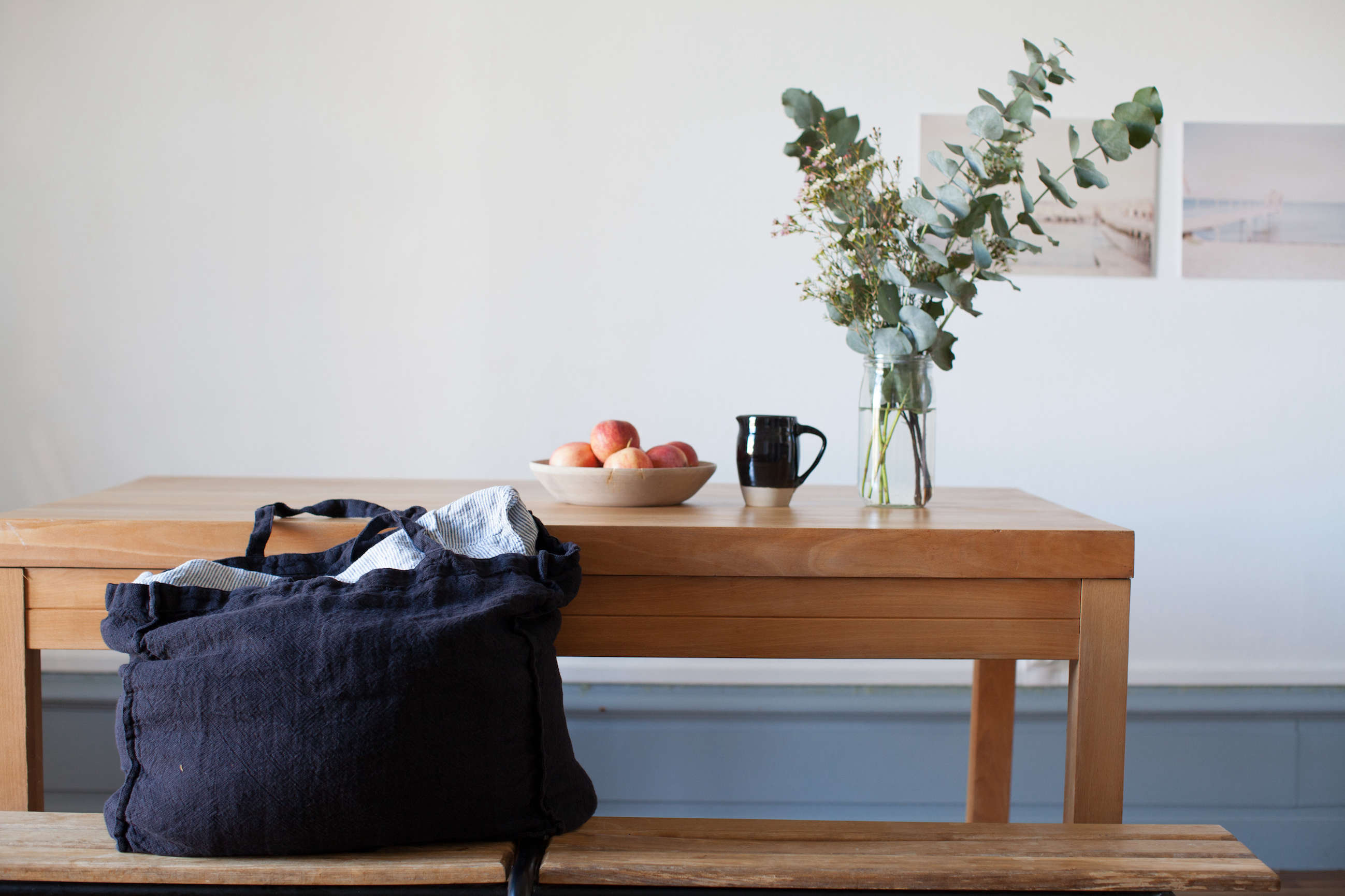 Washed linen tote bag from Le Reperes des Belettes   Remodelista