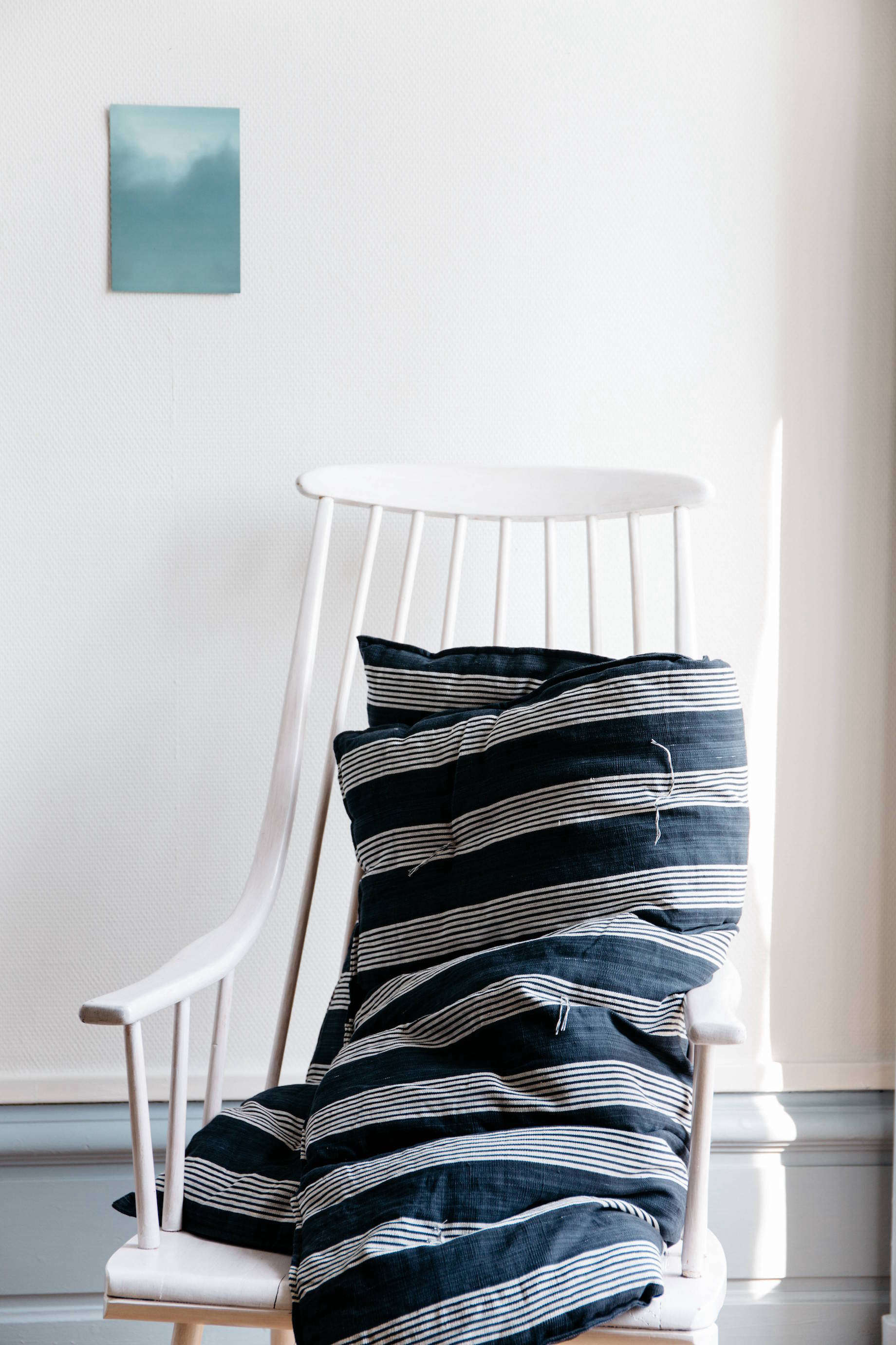 Matelas striped overlay mattress from online shop Le Reperes des Belettes   Remodelista