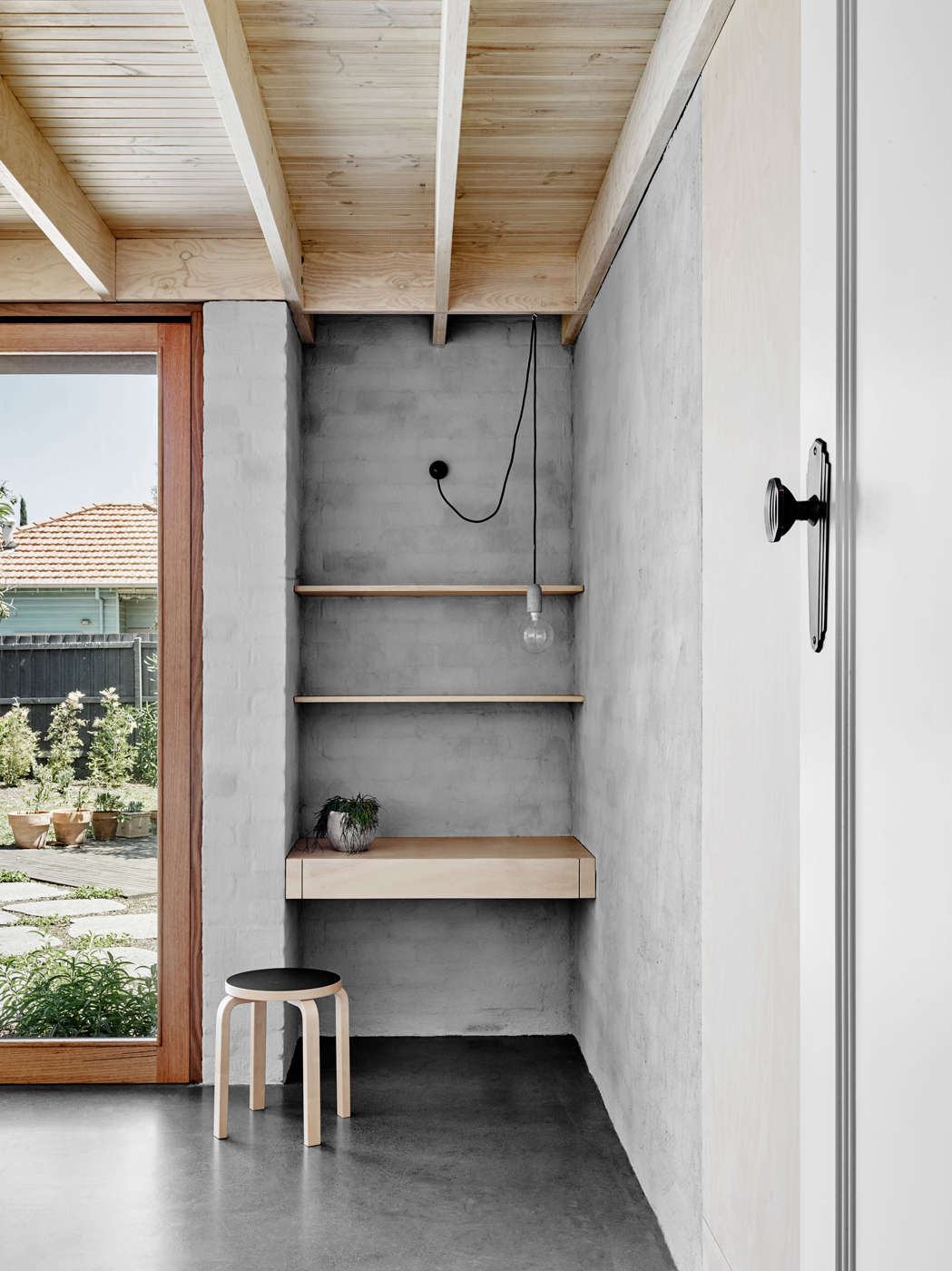 An Inspired Melbourne Addition With Shelves As Walls