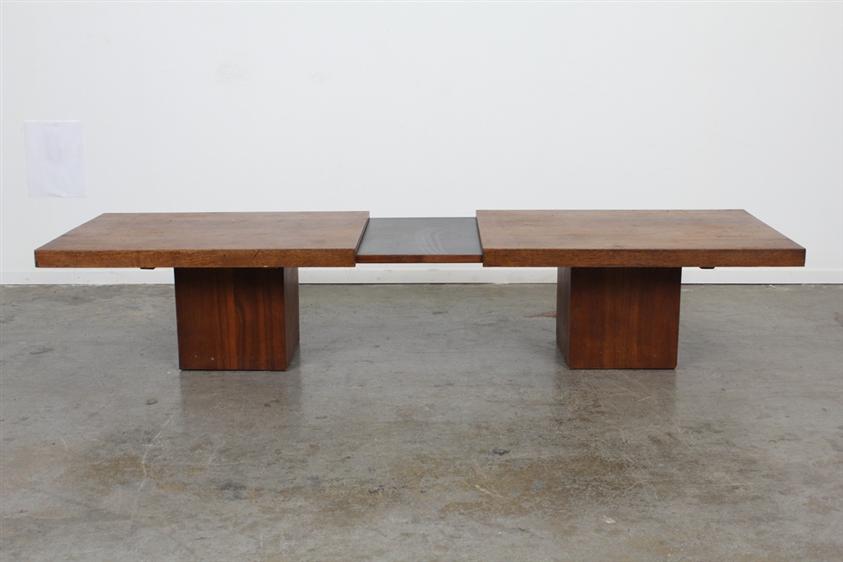 John Keal walnut coffee table via Midcentury LA | Remodelista