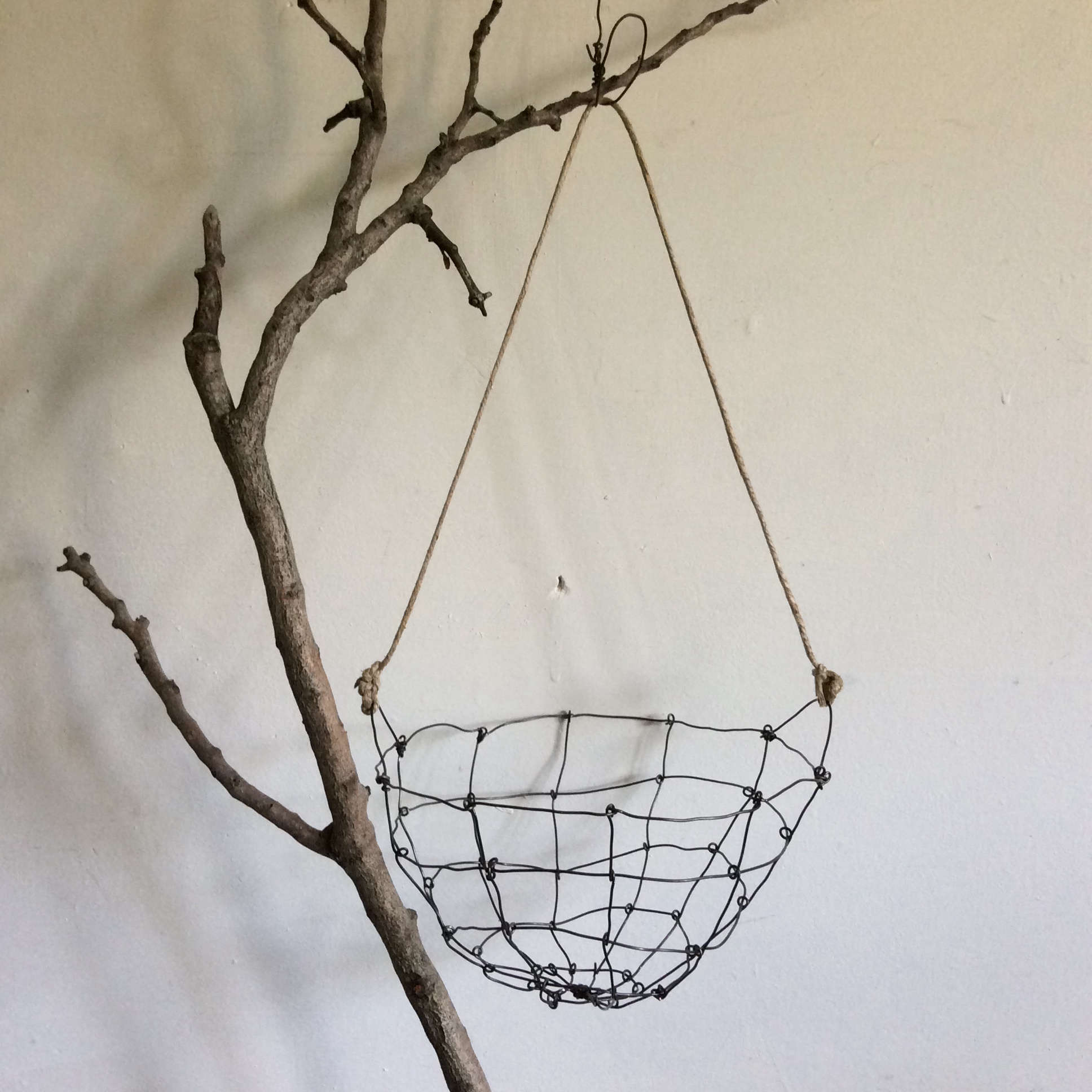 Hanging wire basket by Instagram stars from Melbourne, artists Mr and Mrs Charlie | Remodelista