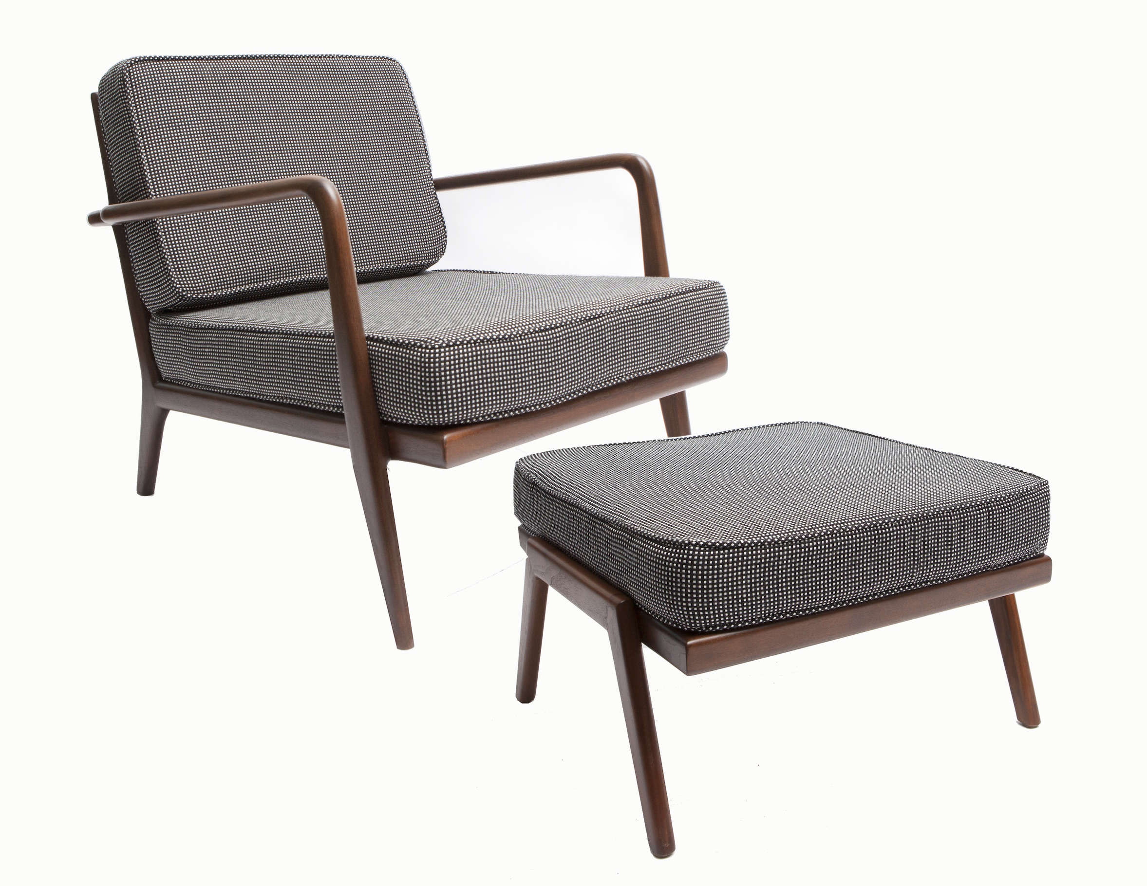 Smilow Furniture armchair and ottoman, a revived midcentury design | Remodelista