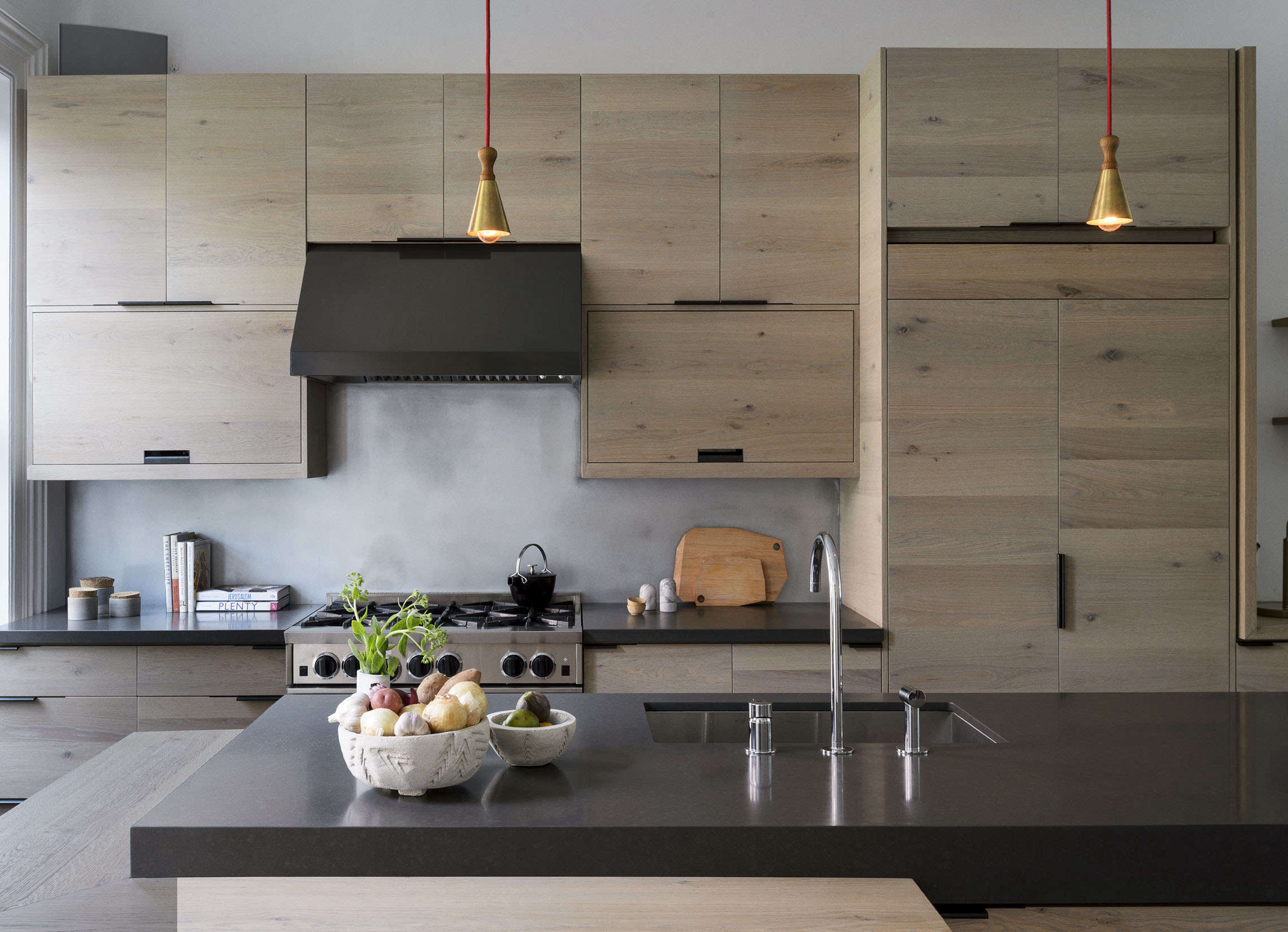 Brooklyn kitchen with custom oak cabinets, design by Workstead, photograph by Matthew Williams | Remodelista