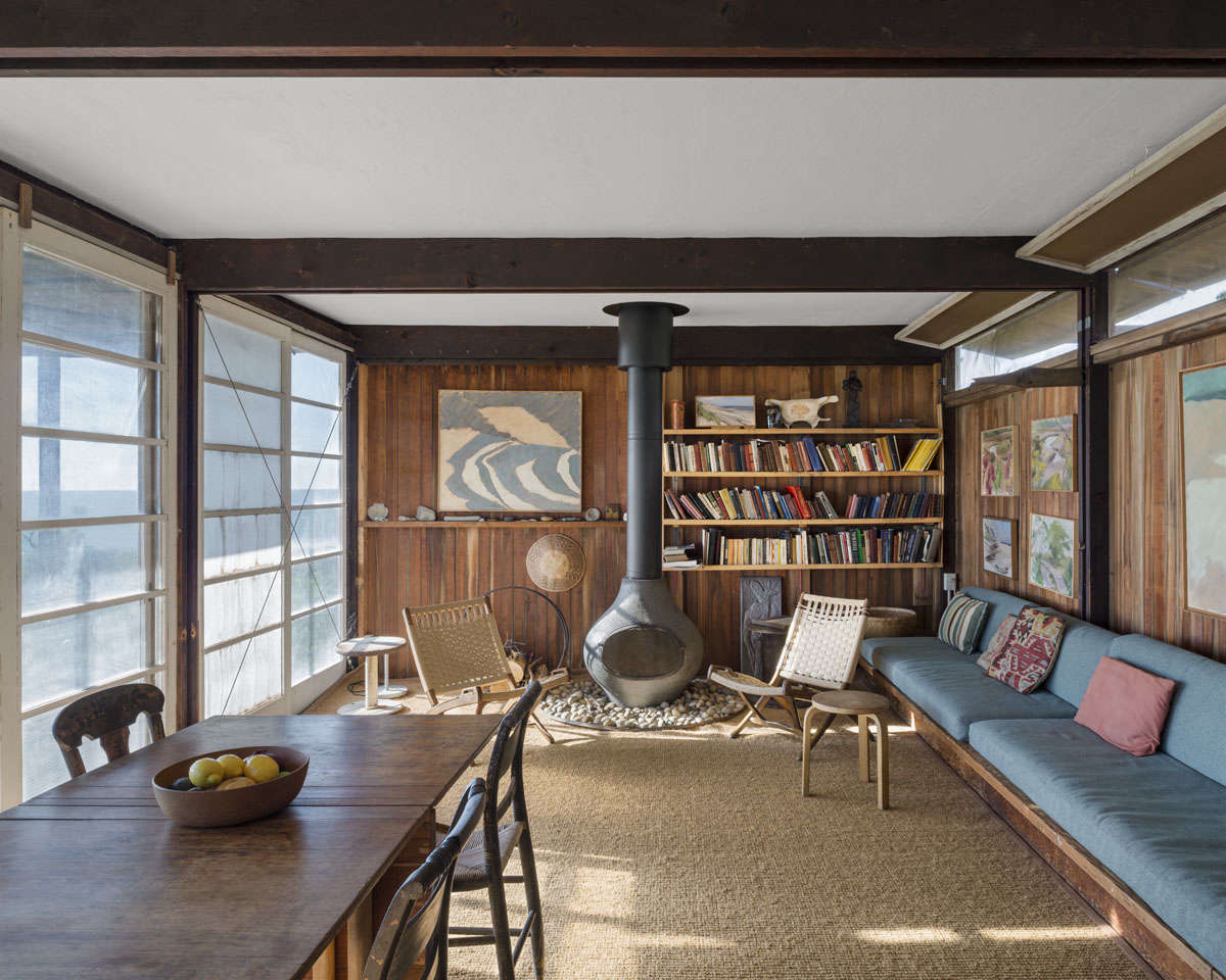 Steal this look a bohemian living room in wellfleet ma for Modern cape cod house