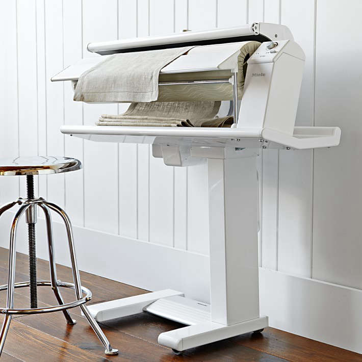 Modern mangle: the Miele pedal-operated rotary iron | Remodelista