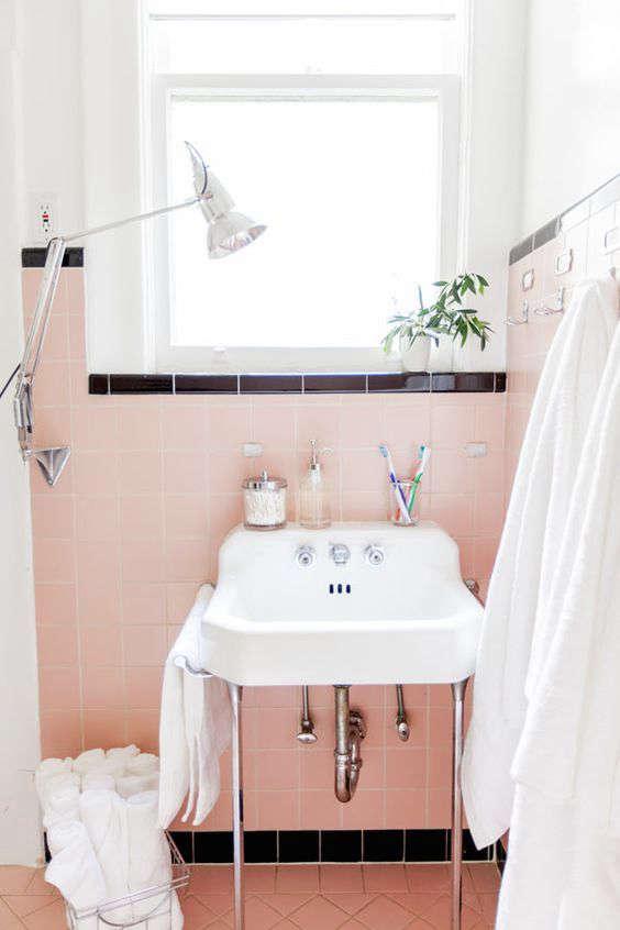 Rethinking pink 9 bathrooms in blush tones remodelista - Pink bathroom color schemes ...