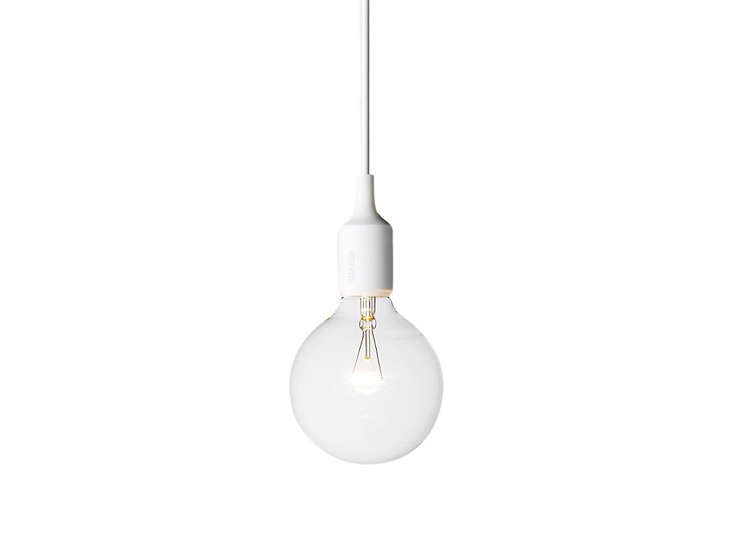 white-muuto-pendant-bulb-light-remodelista