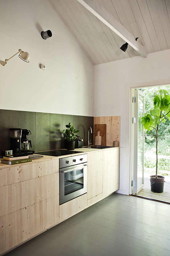 Nordic-designed kitchen at Sagverket, a retreat center and hostel in Northern Sweden | Remodelista