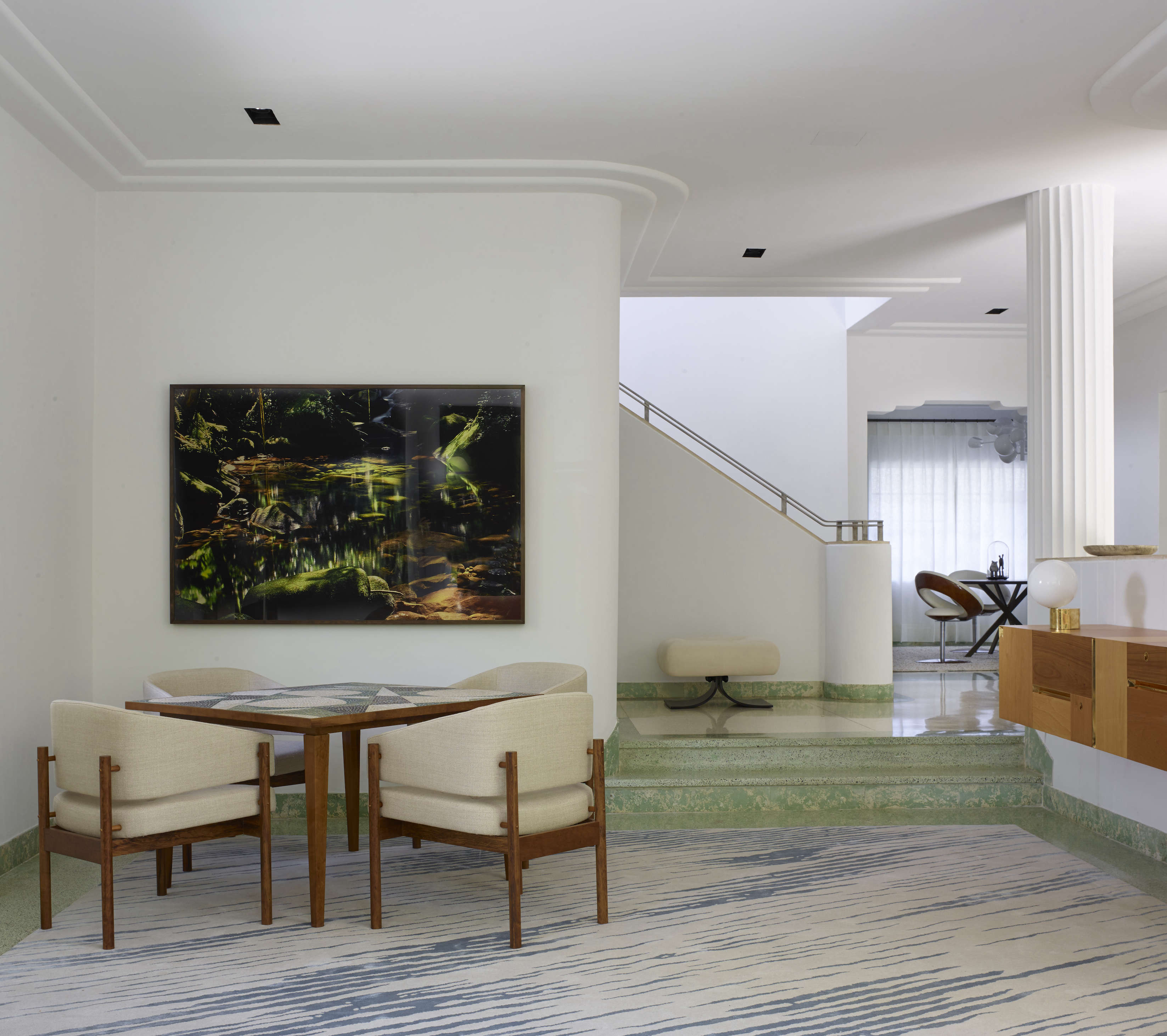 Exceptional Abstract Wall Art For Living Room #6: Stephan-Weishaupt-Miami-house-Richard-Powers-photo-Remodelista-3.jpg