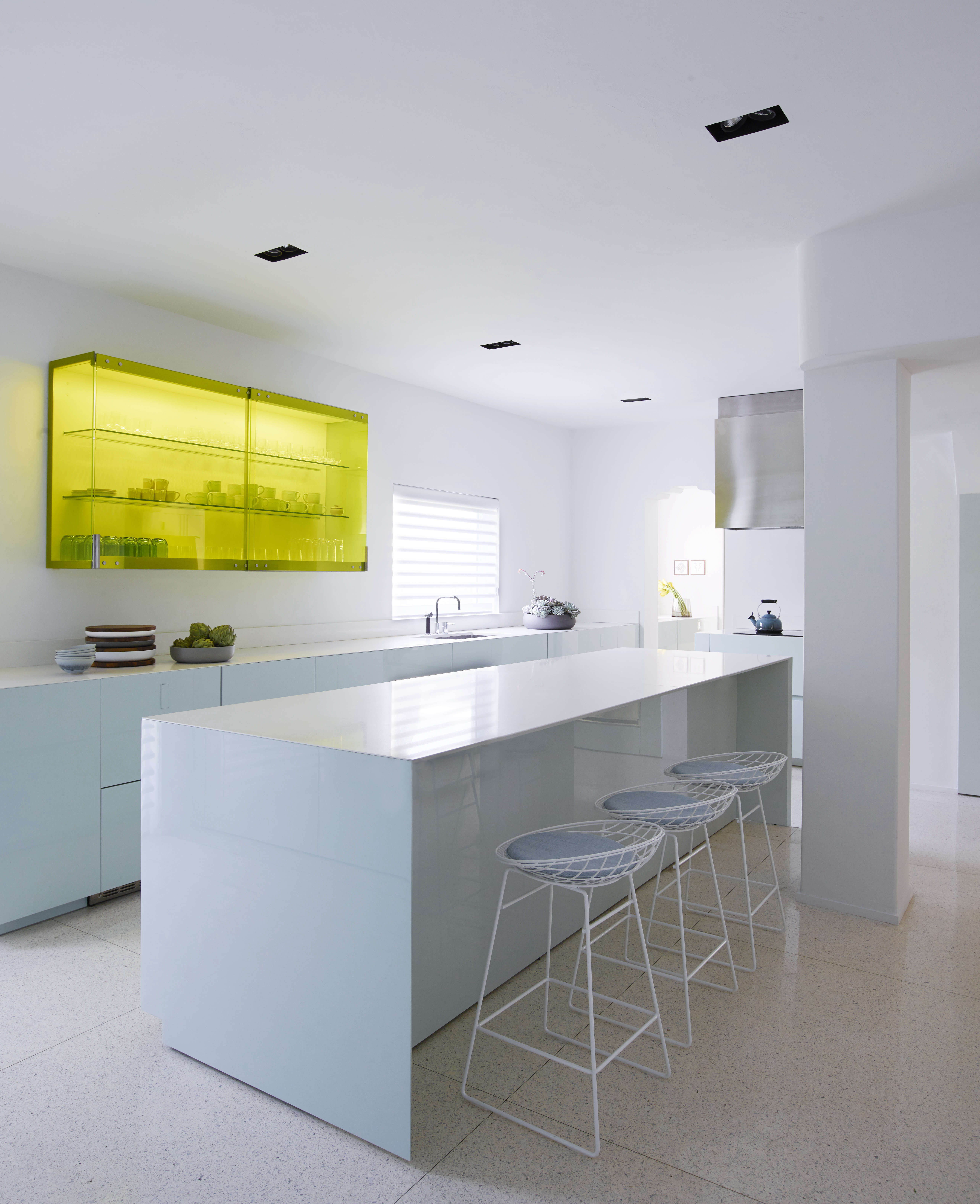 Minimalist Contemporary Kitchen In A Revived 1932 Miami Villa Belonging To  Contemporary Furniture Dealer Stephan Weishaupt