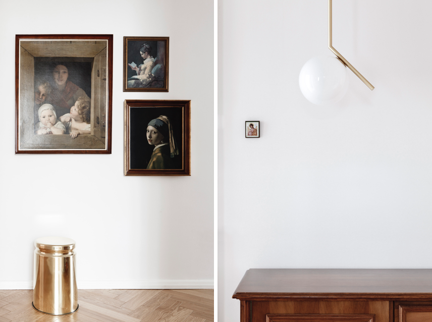 Entry hall details in a luxe-minimalist apartment remodel by Studio Oink in Mainz, Germany | Remodelista