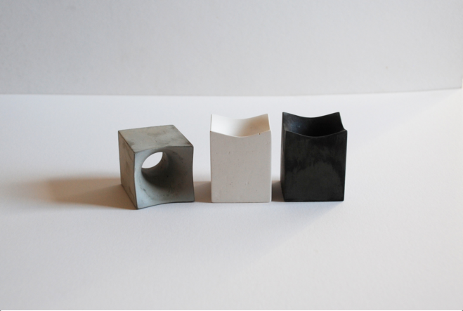 concrete egg cup by Havelock Studio