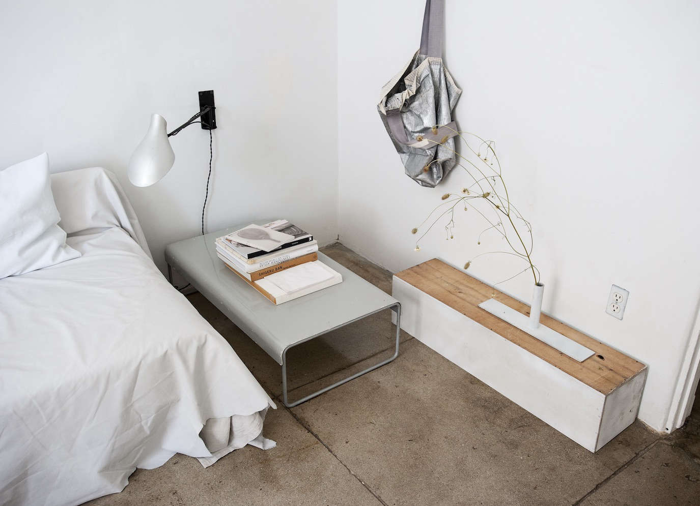 All white guest room in LA by Michaela Scherrer photo by Matthew Williams | Remodelista