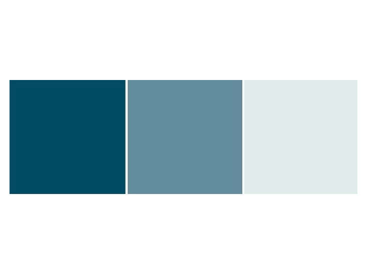 Linseed Oil Paints in Shades of Blue