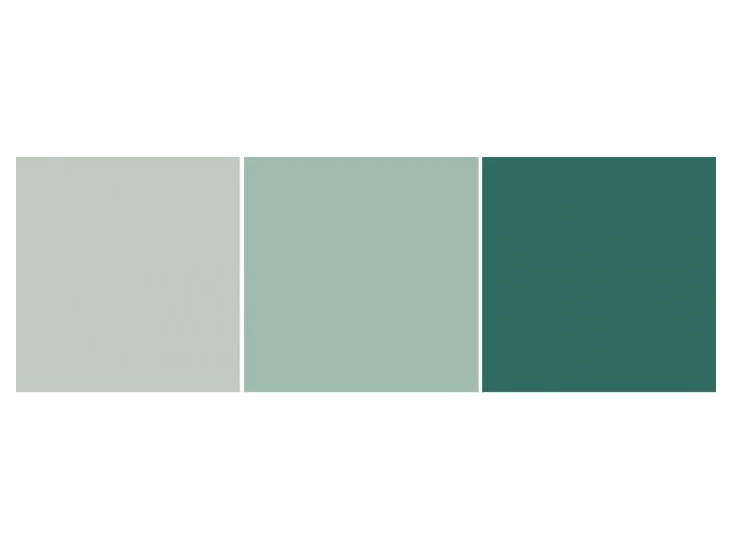 Linseed Oil Paints in Shades of Green