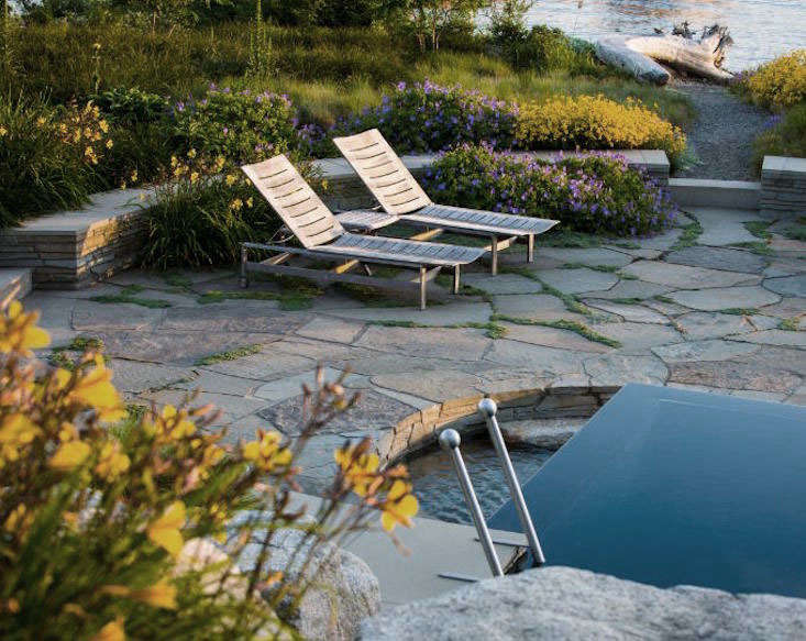 GardenDesign_perennials Garden Pool Loungers_ClaireTakacs_gardenista