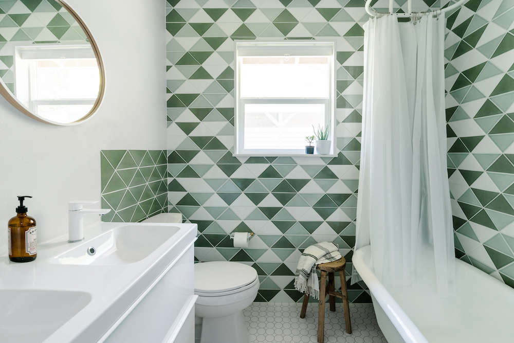 Before After Green Tiled Bathroom Conversion Remodelista