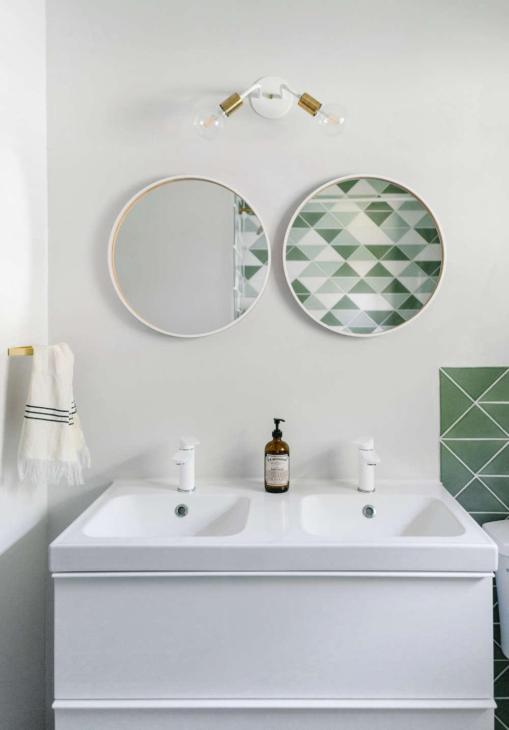 Before Amp After Green Tiled Bathroom Conversion Remodelista