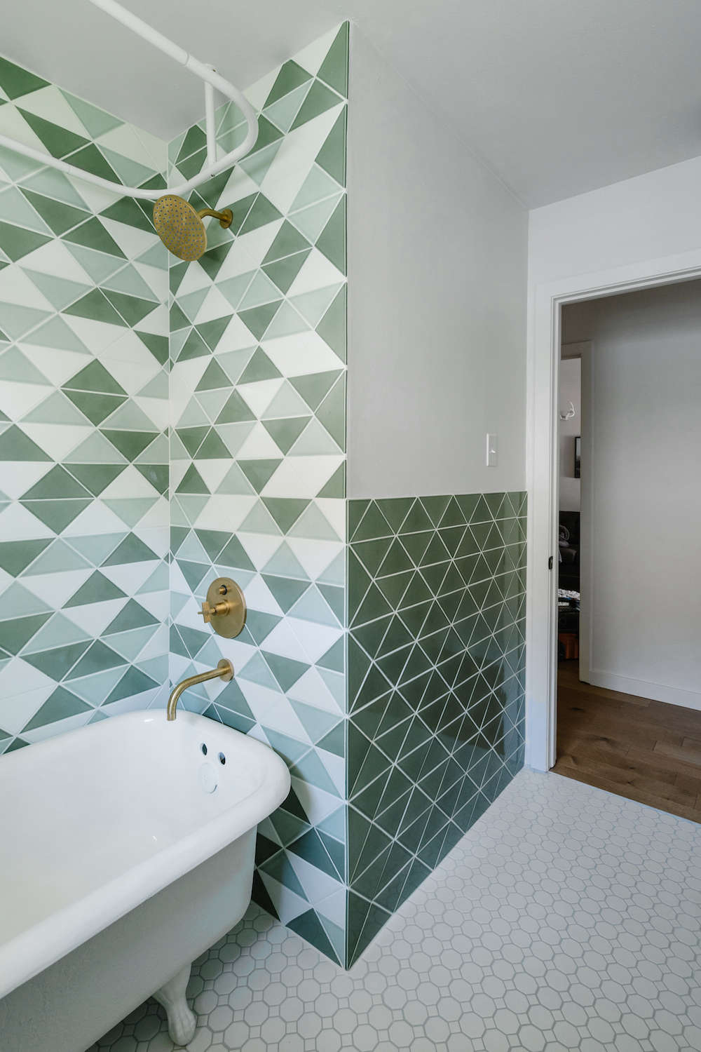 Before & After: Green Tiled Bathroom Conversion