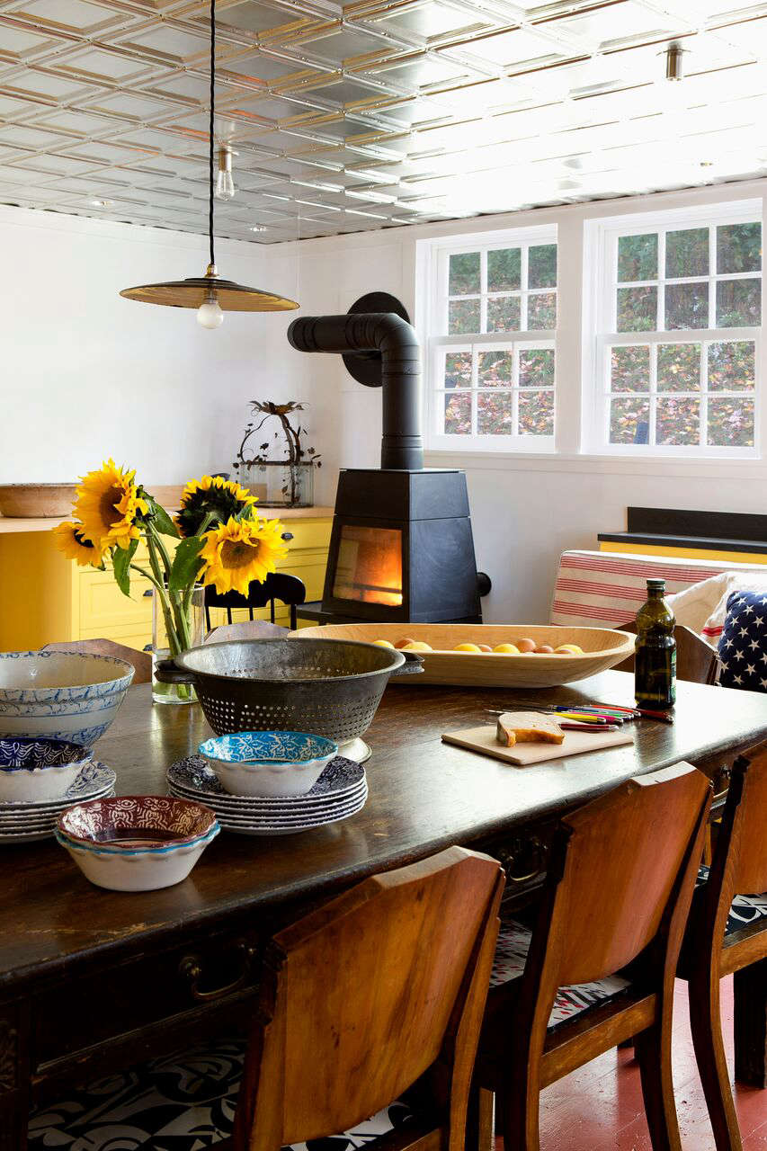 Bold Color In A Connecticut Country House Remodelista
