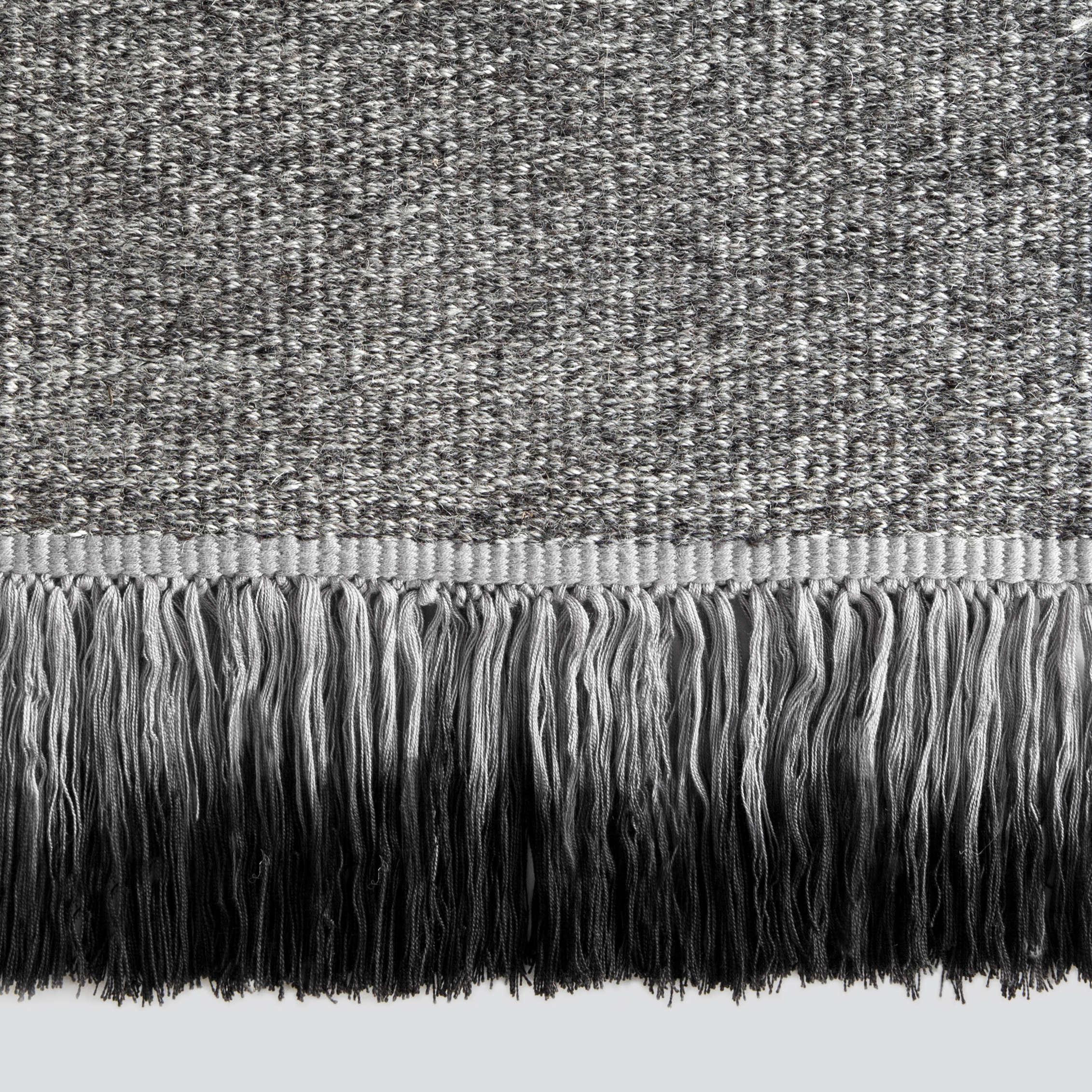 Black And White Tassel Rug: Dip-Dyed Fringe Rugs From Sweden: Remodelista