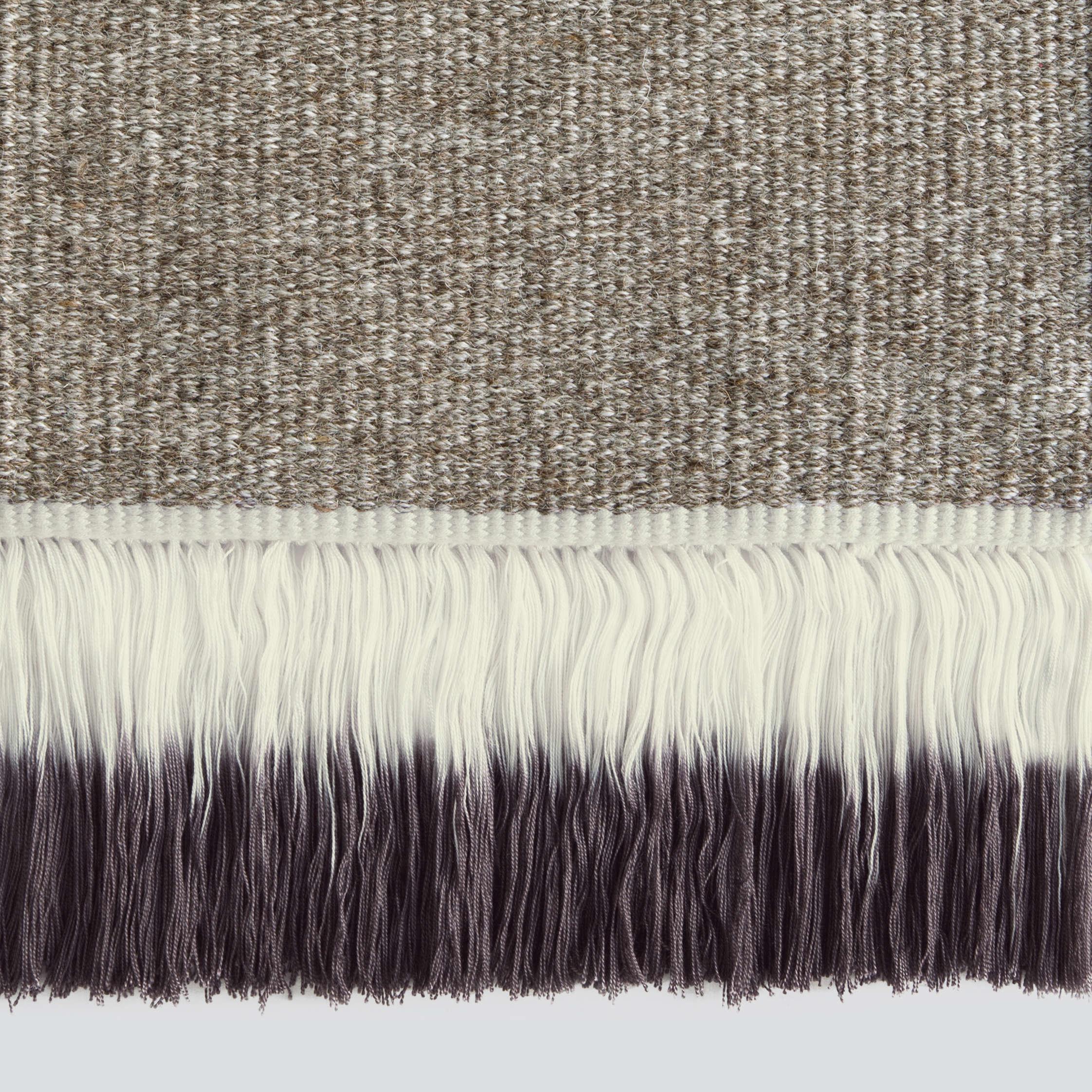 dip dyed fringe rugs from sweden remodelista. Black Bedroom Furniture Sets. Home Design Ideas