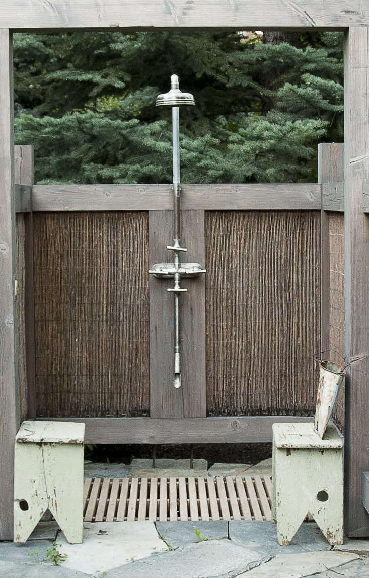 Private Idaho A Rustic Outdoor Shower In Sun Valley