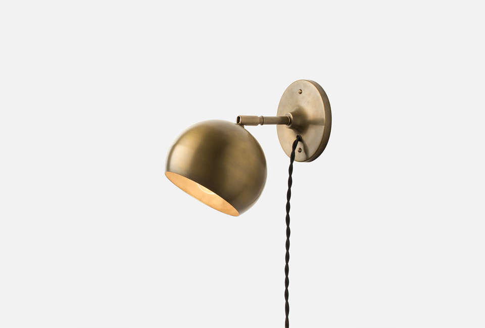 Schoolhouse Electric Isaac Plug-In Wall Sconce - 10 Easy Pieces: Plug-In Wall Task Lights - Remodelista