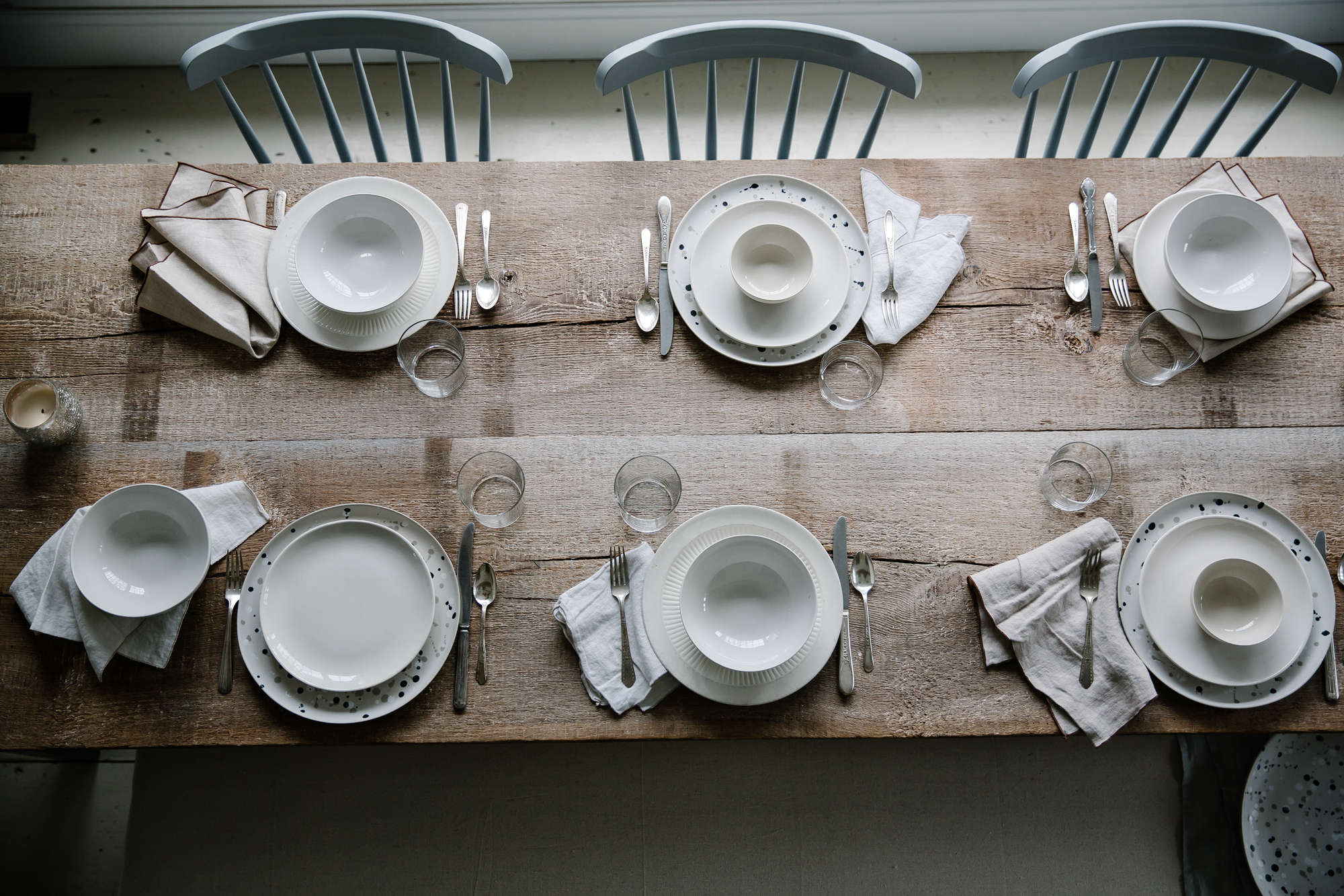 Jersey Ice Cream Co. Old Chatham House, Remodelista, table setting