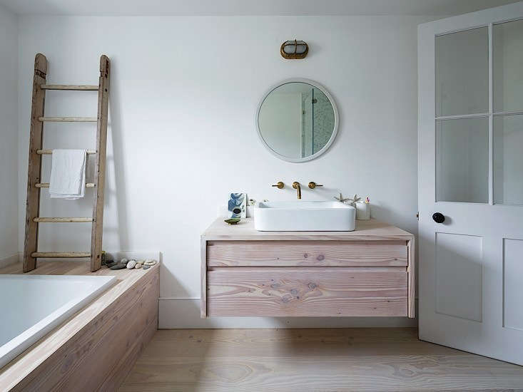 Steal This Look A London Bathroom Clad in Dinesen Wood Remodelista