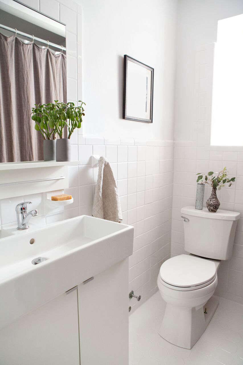 Belgian Linen Hemstitch Shower Curtain Gray