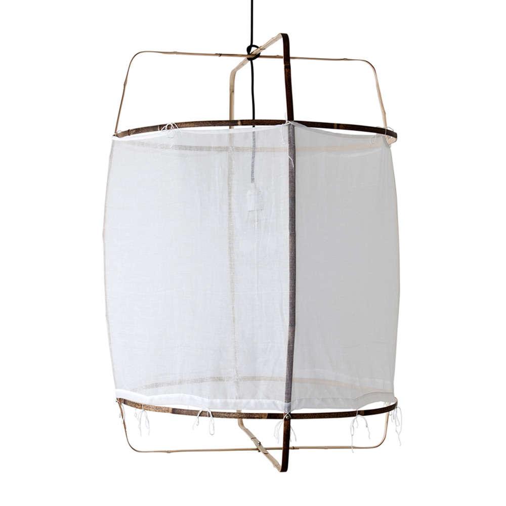 High/Low: Fabric Hoop Ceiling Light Fixture