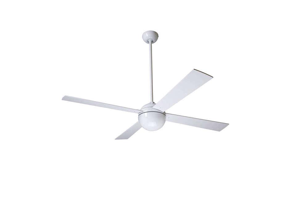 Ball White Ceiling Fan