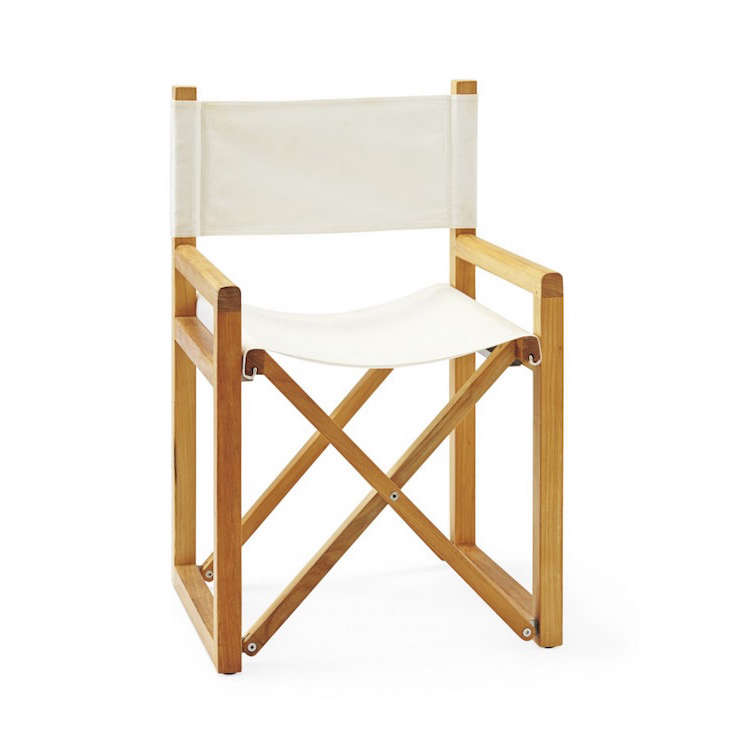 Above: Covered In All Weather Sunbrella Fabric, A Solid Teak Directors  Chair Chair Is $495 From Serena And Lily.