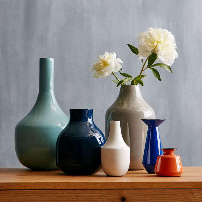 Object Of Desire Colorful Enamel Vases Gardenista