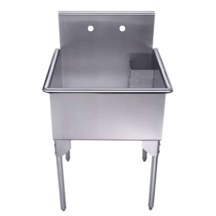 Utility Sink Stainless Steel Freestanding : Above: From Elkay, a stainless steel Sturdibilt Scullery Sink has two ...