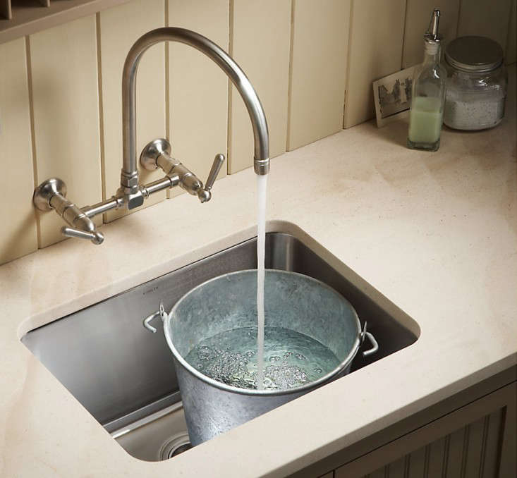 Above: Kohler?s undermount Undertone Utility Sink measures 23 by 17 ...