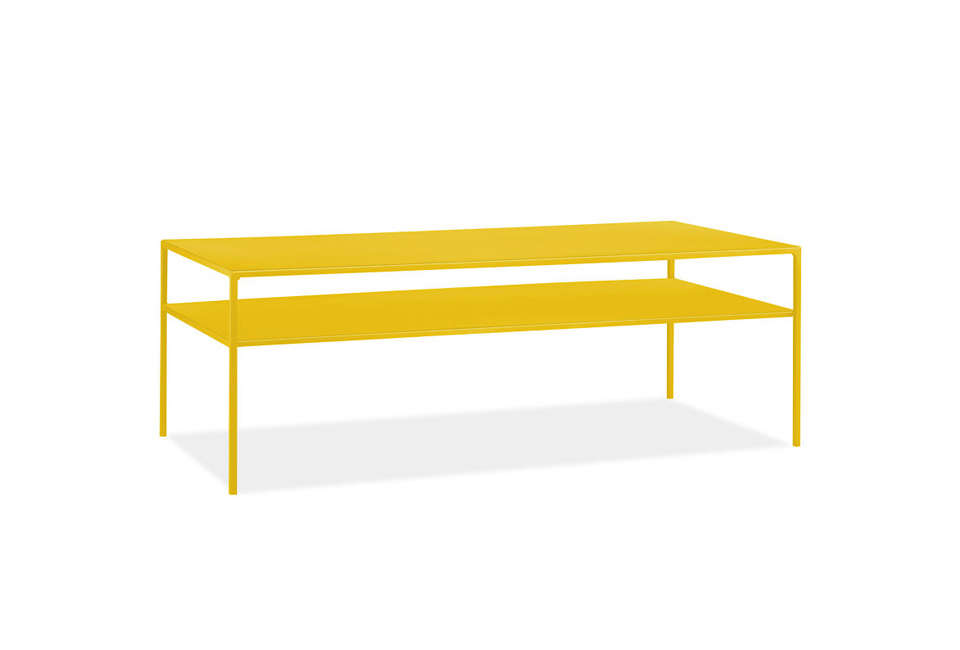 Room & Board Slim Cocktail Tables in Yellow