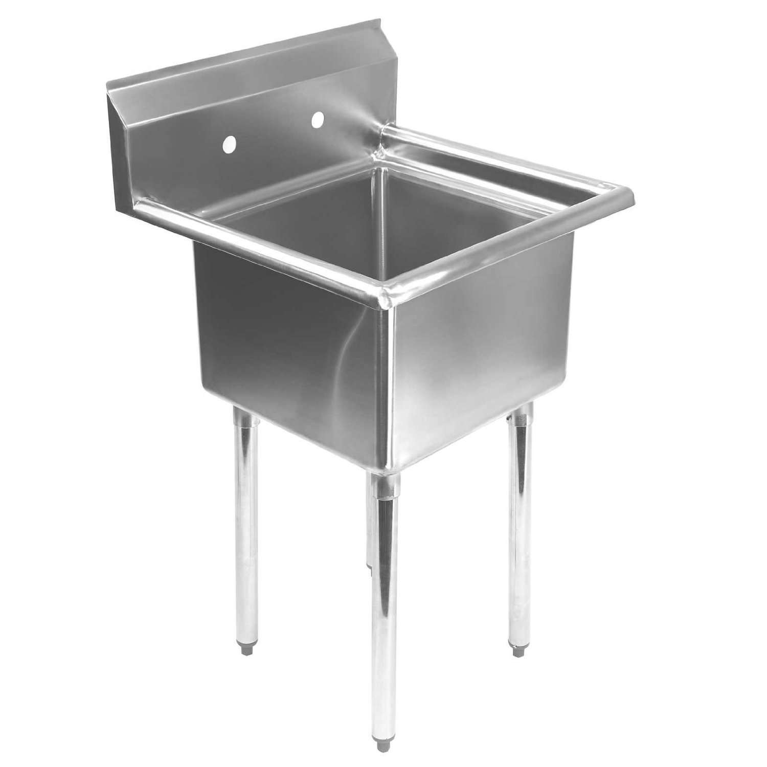 Outdoor Laundry Sink : Above: A compact Gridmann stainless steel Commercial Utility Sink is ...