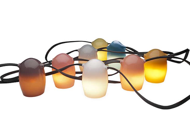 Outdoor Design: Colorful Glass String Lights - Gardenista