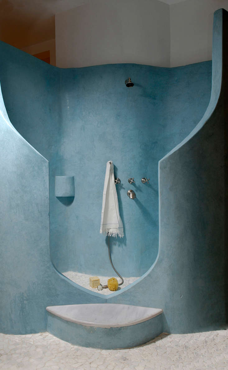 Above: A Tadelakt Shower With Cobalt Pigment By Tierrafino, A Company  Specializing In Tadelakt Work In The Netherlands (whose Founder Worked With  Joseph ...