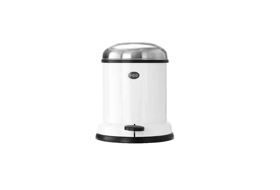 Vipp Small White Waste Bin